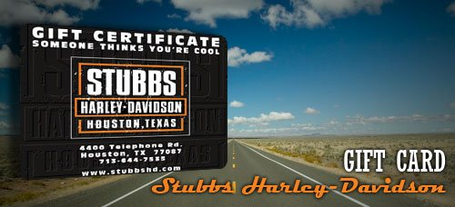 Gift cards available at Stubbs H-D
